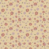 little flowers petals and leaves seamless pattern
