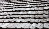 picture of shingles  - Old wooden shingle roof - JPG
