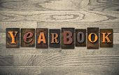 Yearbook Wooden Letterpress Concept