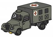 Old military ambulance