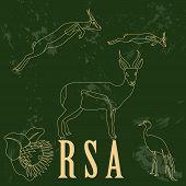 RSA. Retro styled image.