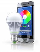 Led bulb with mobile wifi remote control