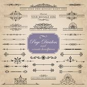 Page dividers and ornate headpieces - set 1
