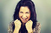 latin woman happy
