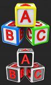 Blocks cube ABC