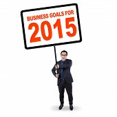 Manager With Business Goals For 2015