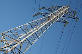 A high-voltage electricity pylons