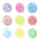 Color pencil round spots