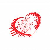 Happy Valentine's Day Vector Lettering