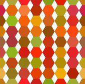 Seamless Pattern Of Colored Hexagons