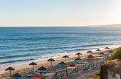 Beautiful Falesia Beach In Portugal At Sunset