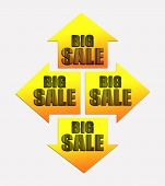 Four arrows with text BIG SALE