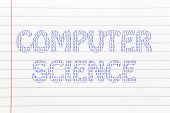 Computer Science Writing With Binary Code Pattern