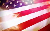stock photo of civil war flags  - USA stars and stripes flag patriotic background - JPG