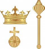 picture of scepter  - vector illustration of royal symbols  - JPG