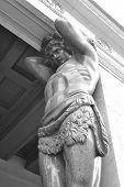 Sculpture Atlant. The New Hermitage.