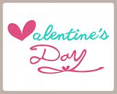 Valentines day , lettering background