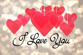 i love you against light glowing dots design pattern