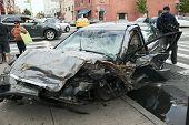 Car Wreck In Queens New York