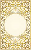 Decorative ornaments design in gold color (EPS10)