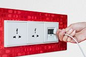 Woman Hand Plug Usb Wall Socket/outlet Plate