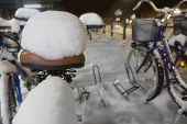 Bicycle Seat With Snow