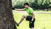 Stretching With A Tree
