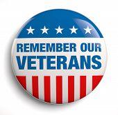 stock photo of veterans  - Veterans Day remember badge icon - JPG