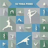 23 Yoga Poses Silhouettes