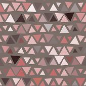Seamless pattern of triangles, brown background. Vector