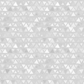 Seamless pattern of triangles, gray background. Vector
