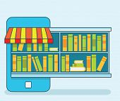 Mobile Service - Library Of Books For Read. Online Bookstore Or Subscription