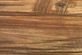 Background Made Of Old Brown Wooden Table.