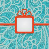 Gift With Floral Blue