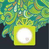 Gift With Floral Green