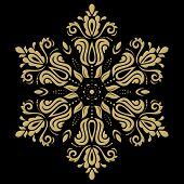 Vector Golden Pattern. Orient Ornament