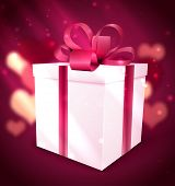 gift box Valentine background