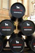 Osborne sherry barrels, Seville.