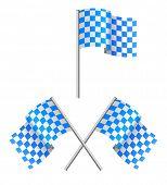 alarm flag blue and white
