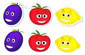 happy tomato, plum and lemon