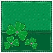 green background with shamrock, clover