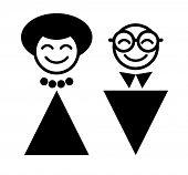 man and woman symbol. WC