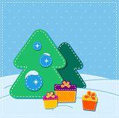 christmas card. childhood application style