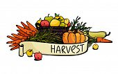 harvest of vegetables and fruits. eps8