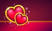 Valentines day background with precious heart. eps 10