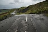 picture of collapse  - Collapsed A625 road in Peak District UK - JPG
