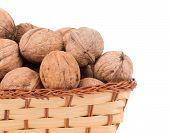 Walnuts in basket.