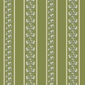 background with floral pattern and stripes
