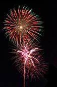 Fireworks Lighting Up the Night