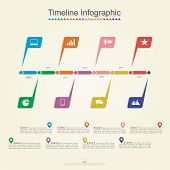 Timeline infographics. Vector illustration